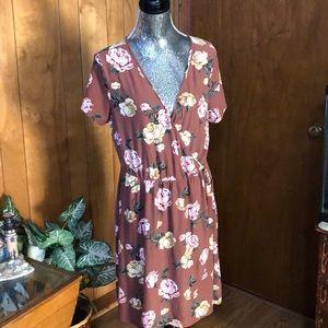 Derek Heart Wrap Look Dress